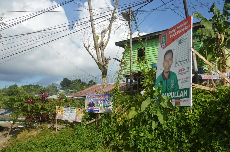 Affiche van kandidaten voor de wetgevende macht stock afbeelding