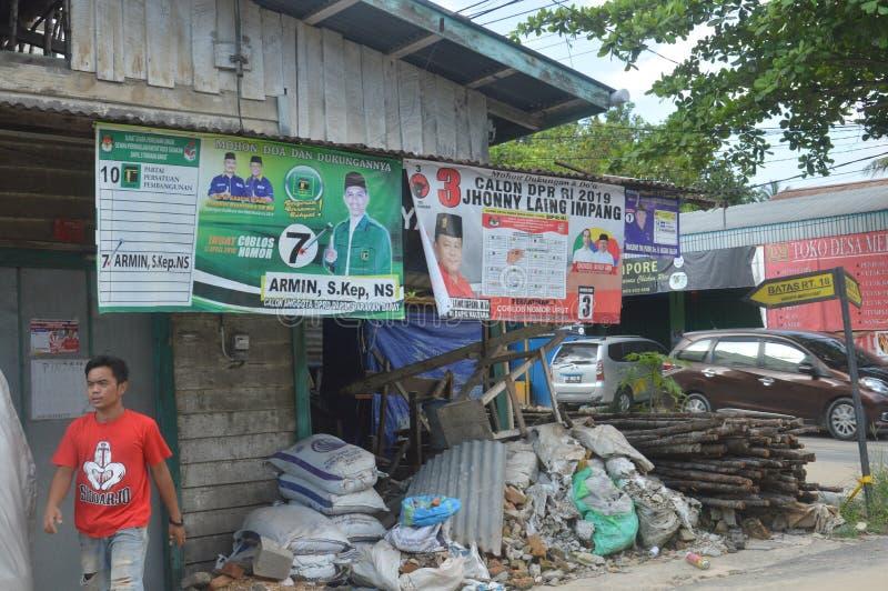 Affiche van kandidaten voor de wetgevende macht stock foto