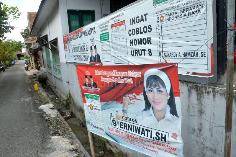 Affiche van kandidaten voor de wetgevende macht stock foto's