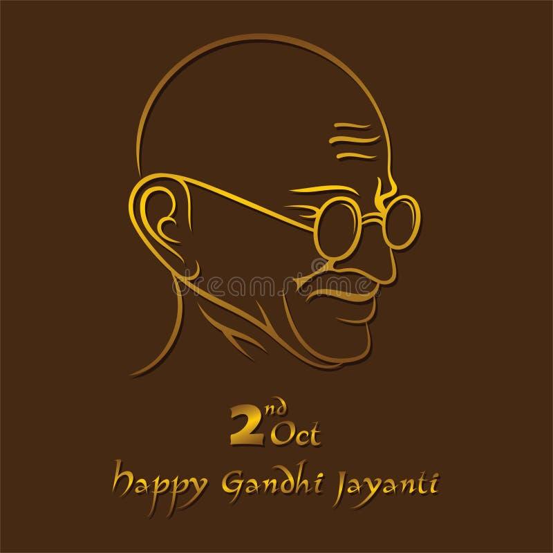Affiche van Mahatma Gandhi voor Gandhi Jayanti vector illustratie