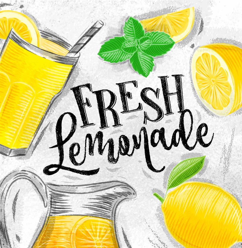 Affiche verse limonade stock illustratie