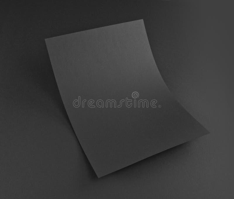 Affiche vide d'insecte sur le gris pour remplacer votre conception images stock