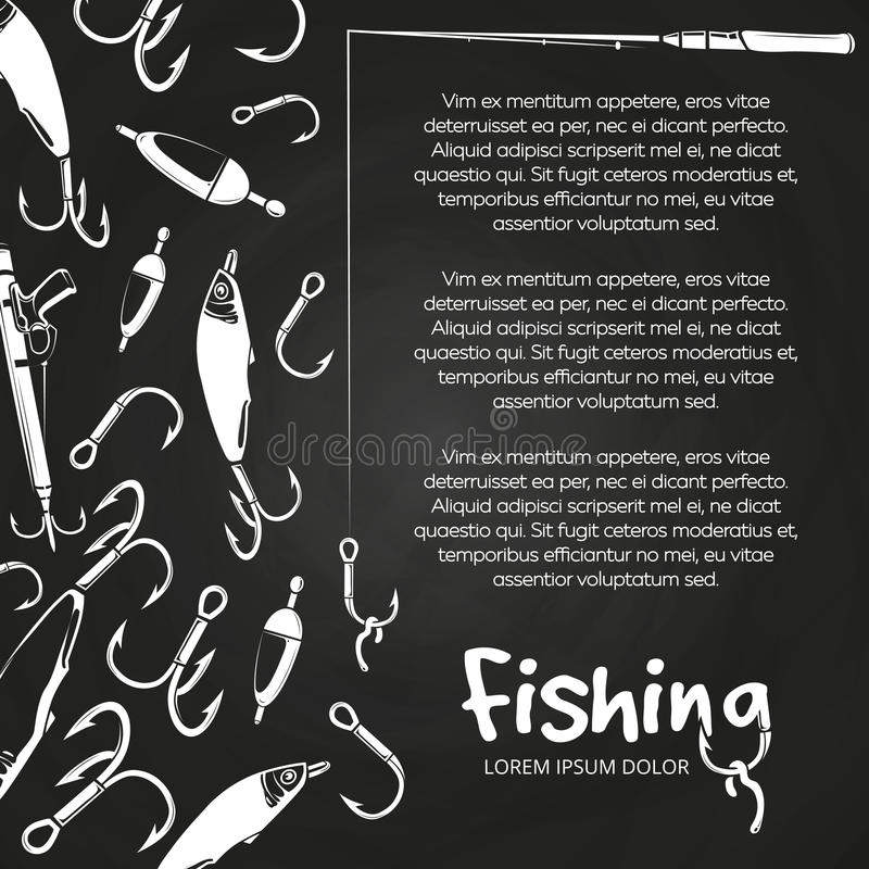 Affiche visserijbanner royalty-vrije illustratie