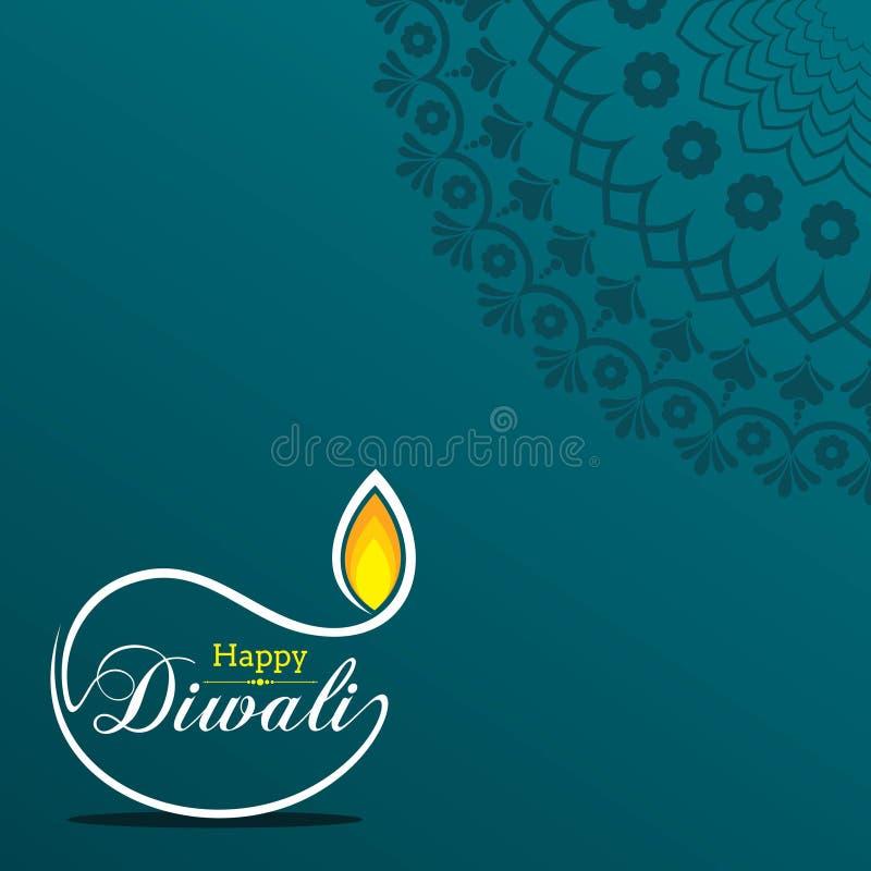 Affiche voor Gelukkige Diwali met mooie ontwerpillustratie vector illustratie
