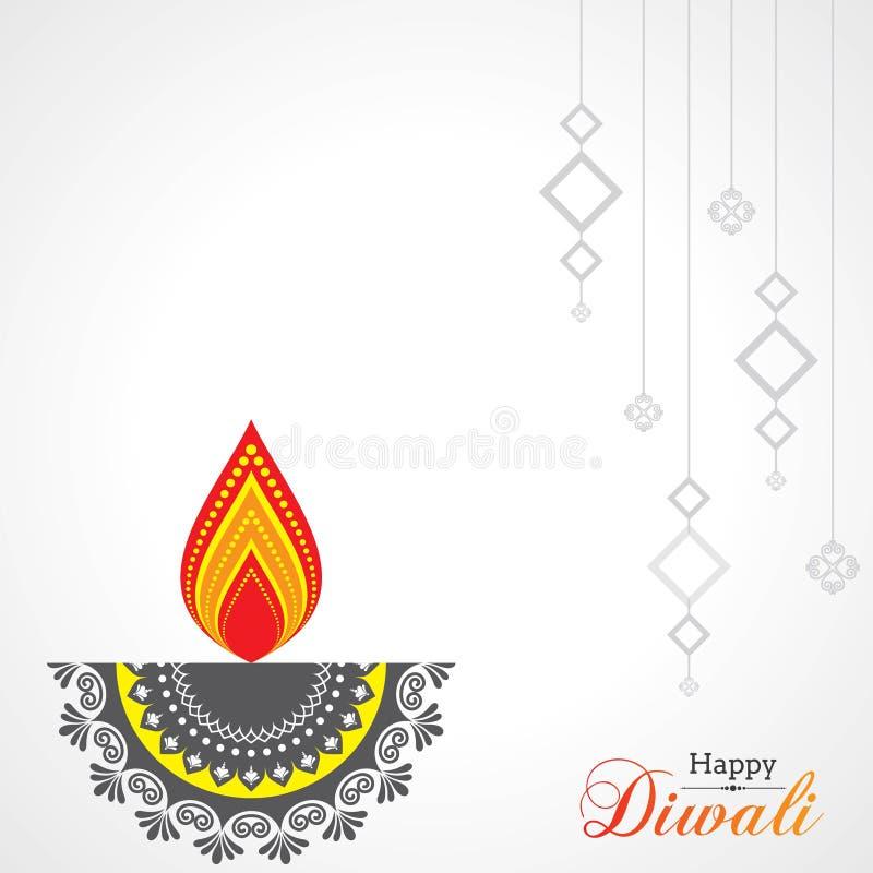 Affiche voor Gelukkige Diwali met mooie ontwerpillustratie royalty-vrije illustratie