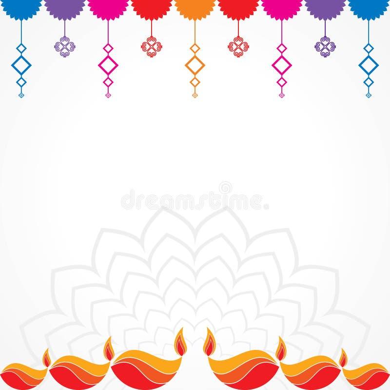 Affiche voor Gelukkige Diwali met mooie ontwerpillustratie stock illustratie