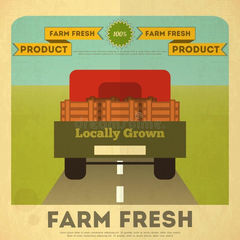 Affiche voor Organisch Landbouwbedrijfvoedsel royalty-vrije illustratie