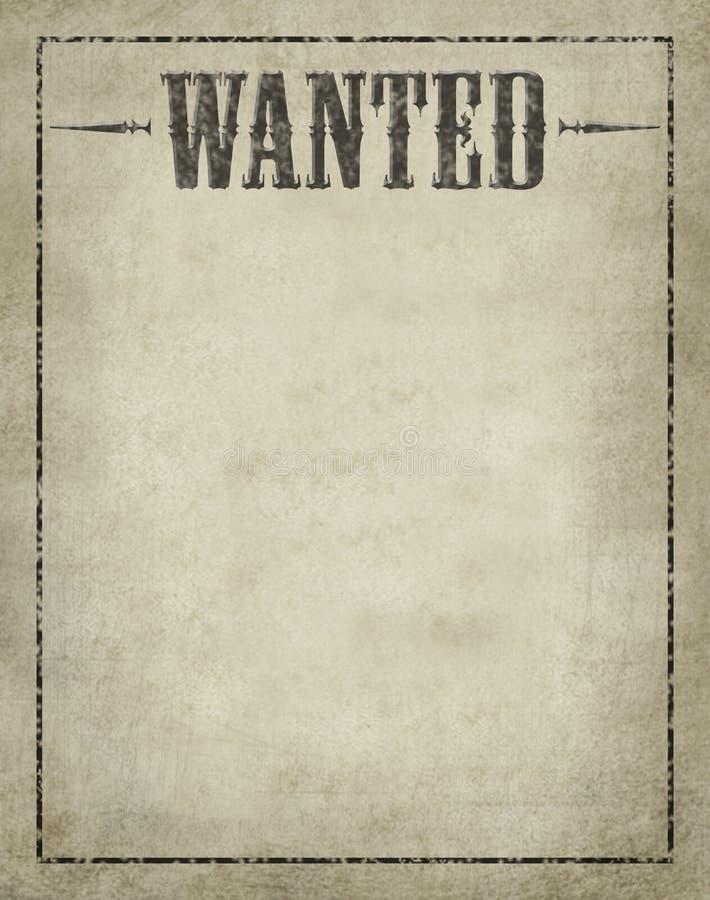 Affiche voulue image libre de droits