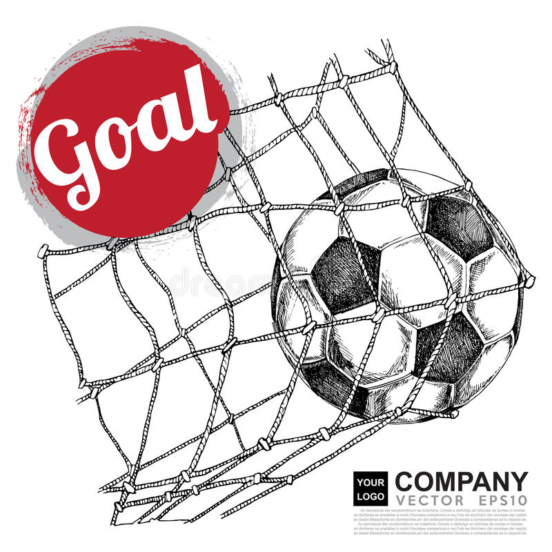 Afficheontwerp van voetbal (voetbal) royalty-vrije illustratie