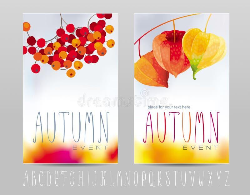 Affiches d'automne illustration libre de droits