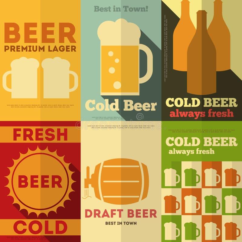 Affiches de bière illustration de vecteur