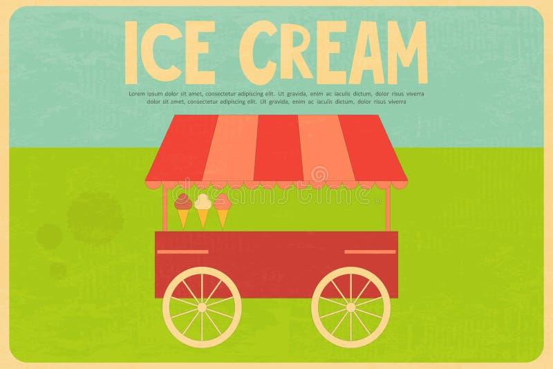 Affiches de crème glacée  illustration de vecteur