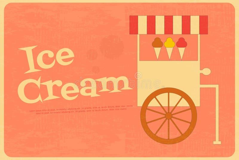 Affiches de crème glacée  illustration libre de droits