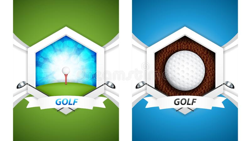 Affiches de golf illustration libre de droits