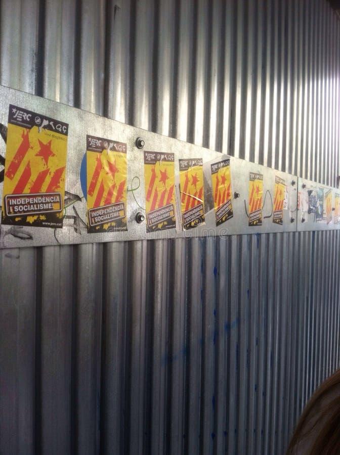 Affiches de l'indépendance catalane photos libres de droits