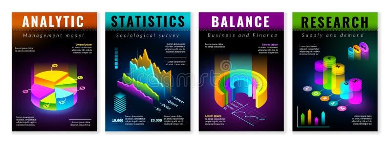 Affiches infographic isométriques illustration libre de droits