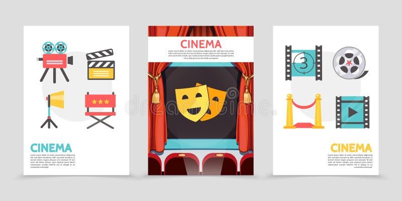 Affiches plates de cinéma illustration de vecteur
