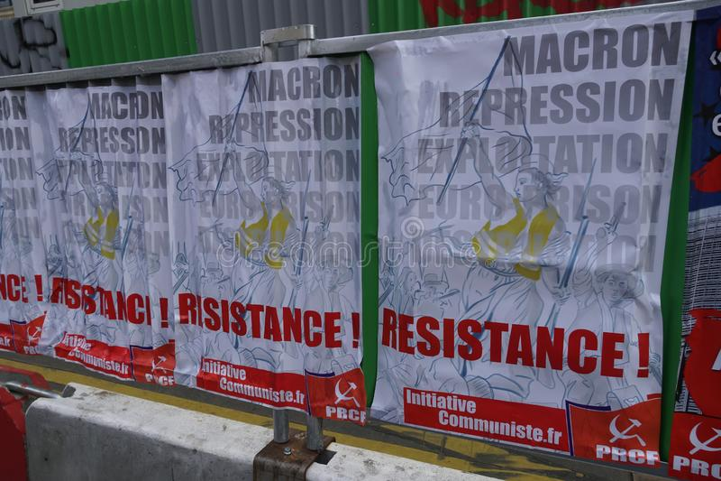 Affiches van de Pool van Communistische Heropleving in Frankrijk royalty-vrije stock afbeeldingen
