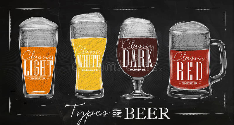 Affichetypes bier royalty-vrije illustratie