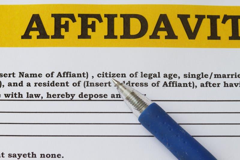 Affidavit Stock Photography