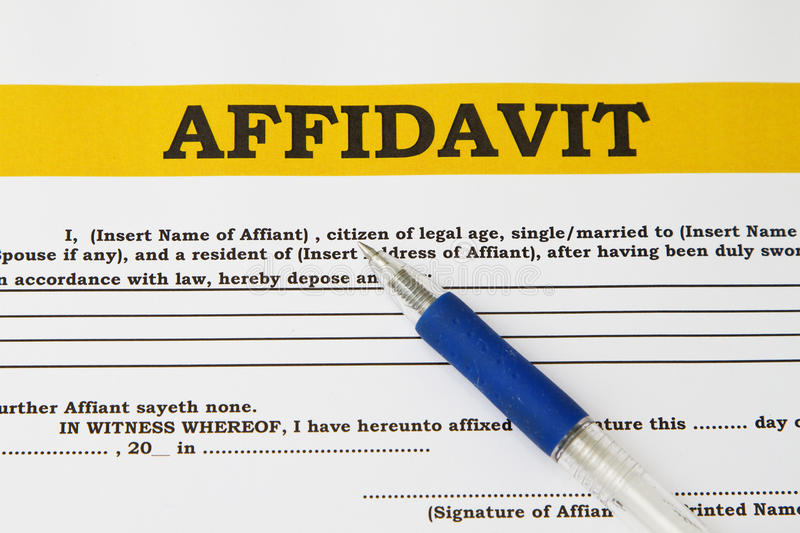 Download Affidavit stock image. Image of contract, signed, sworn - 31192687