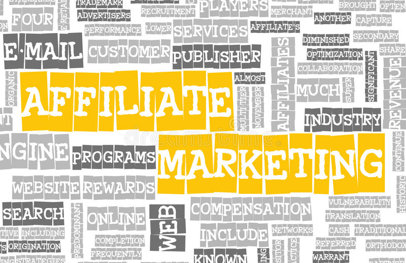 Affiliate Marketing. Web Concept as a Abstract