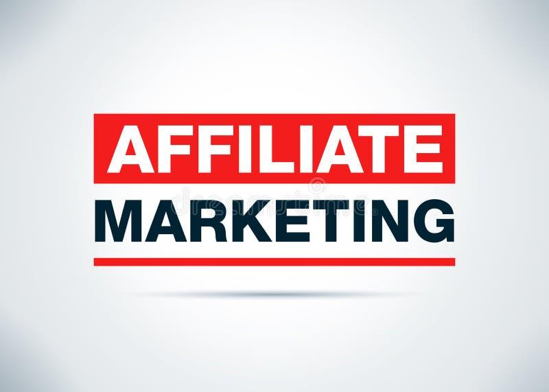 Affiliate Marketing Abstract Flat Background Design Illustration. Affiliate Marketing Isolated on Abstract Flat Background Design Illustration stock illustration