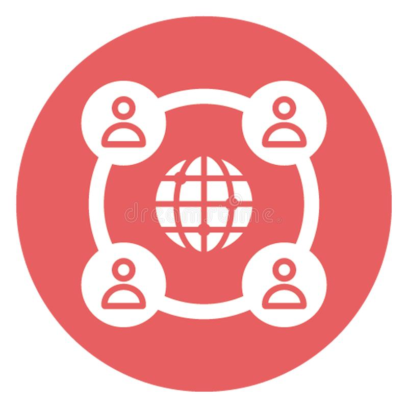 Affiliate network, global connectivity .   Vector icon which can easily modify or editable stock illustration