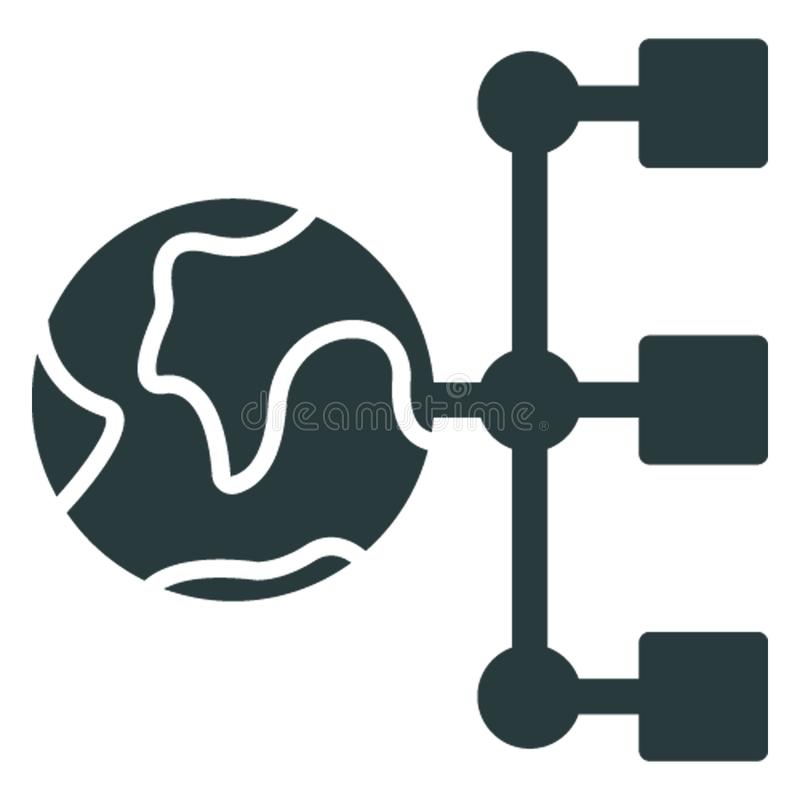 Affiliate network, global connectivity .   Vector icon which can easily modify or editable royalty free illustration