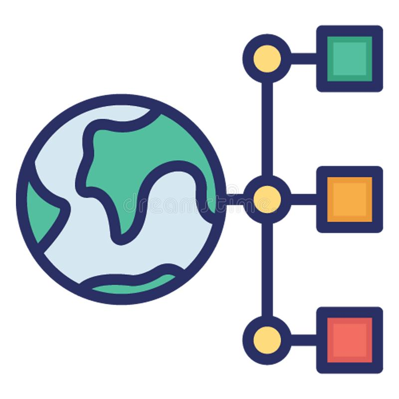 Affiliate network, global connectivity .   Vector icons Set which can easily modify or editable royalty free illustration