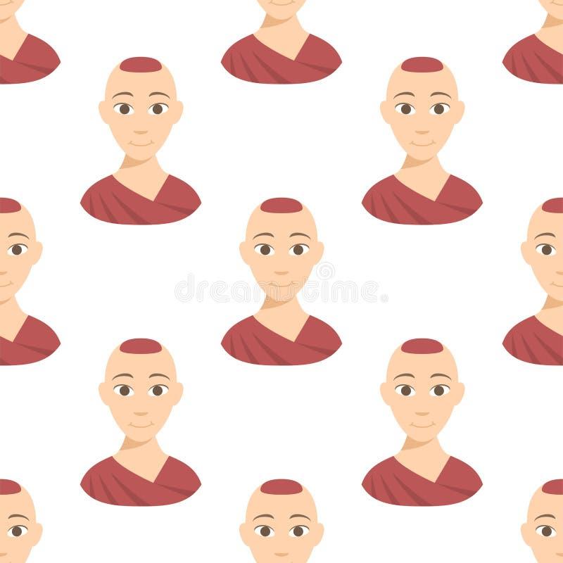 Affiliation d'avatars de différents de nations de personnes de portraits teints frais d'appartenance ethnique différents et vecte illustration libre de droits