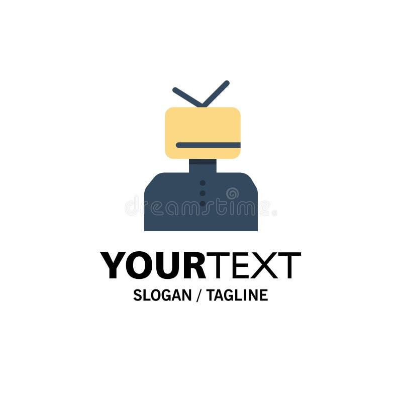 Affirmation, affirmations, estime, heureuse, affaires Logo Template de personne couleur plate illustration de vecteur