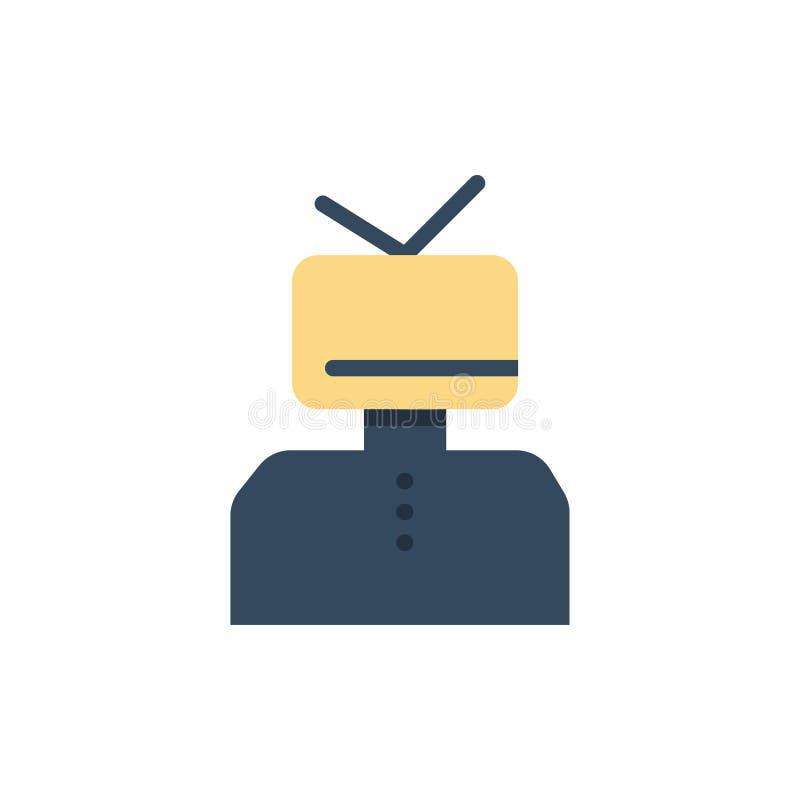 Affirmation, affirmations, estime, heureuse, icône plate de couleur de personne Calibre de bannière d'icône de vecteur illustration stock
