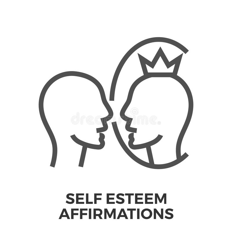 Affirmations d'amour-propre illustration stock