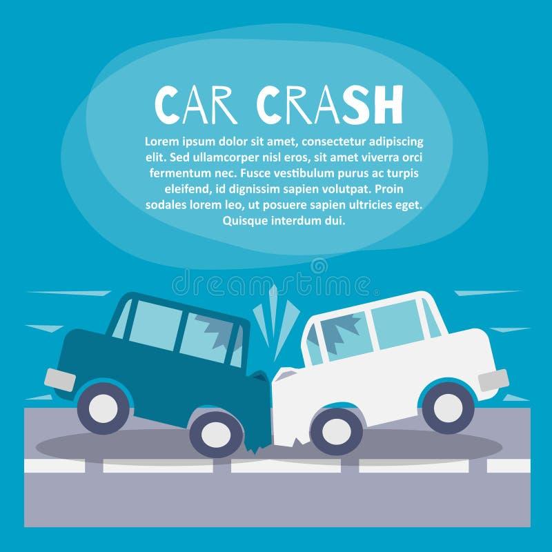 Affisch för bilkrasch stock illustrationer