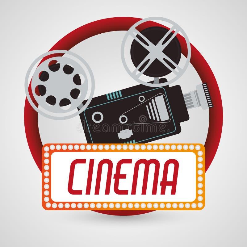 Affisch för bio för tappningkamerafim stock illustrationer