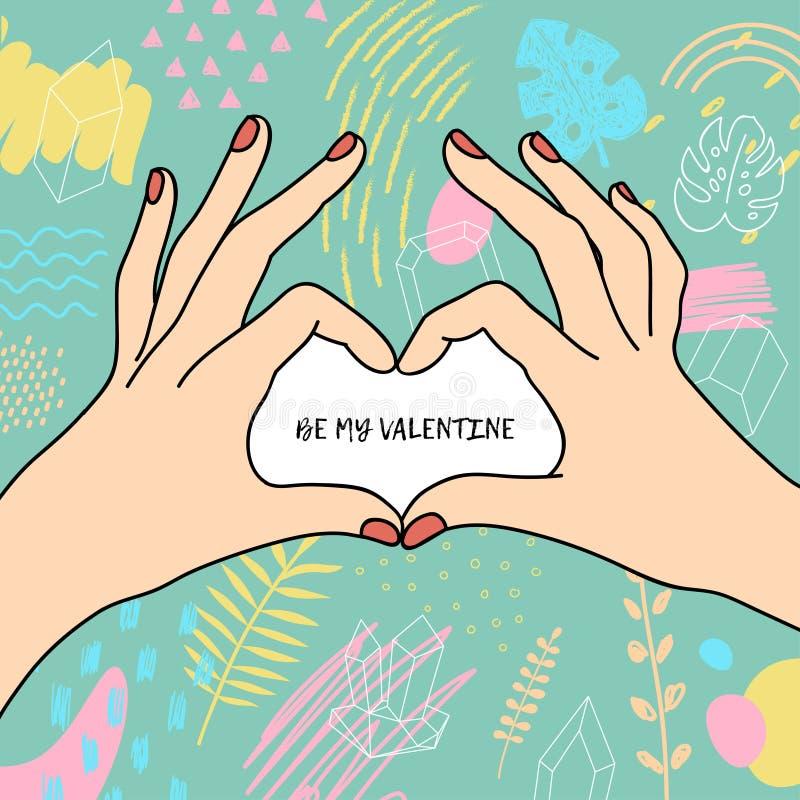 Affisch för dag för valentin` s stock illustrationer