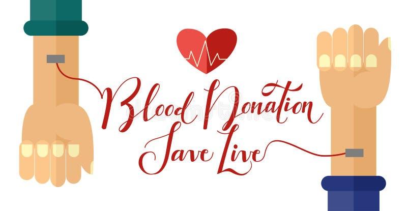 Affisch för dag för vektor14 Juni blodgivare vektor illustrationer
