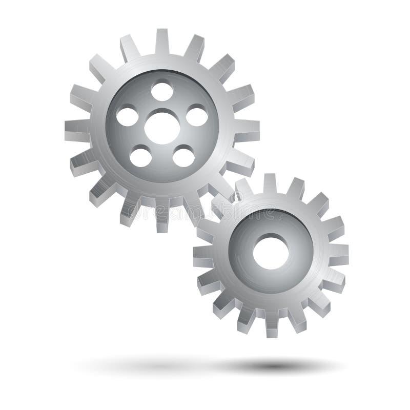 Affisch för emblem för kuggehjulkugghjul vektor illustrationer