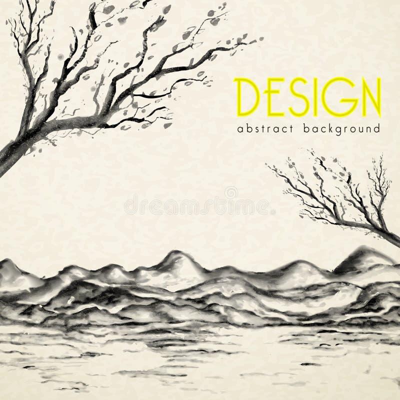 Affisch för färgpulvermålningstil vektor illustrationer