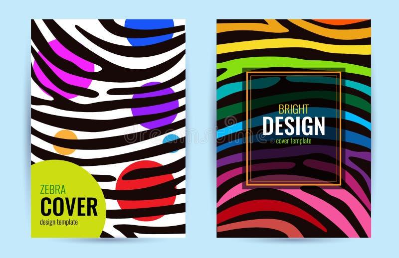 Affisch för fastställd design i färgregnbåge Band på svart bakgrund abstrakt bakgrundsdiagram vektor illustrationer