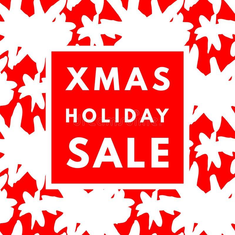 Affisch för julferieförsäljning stock illustrationer