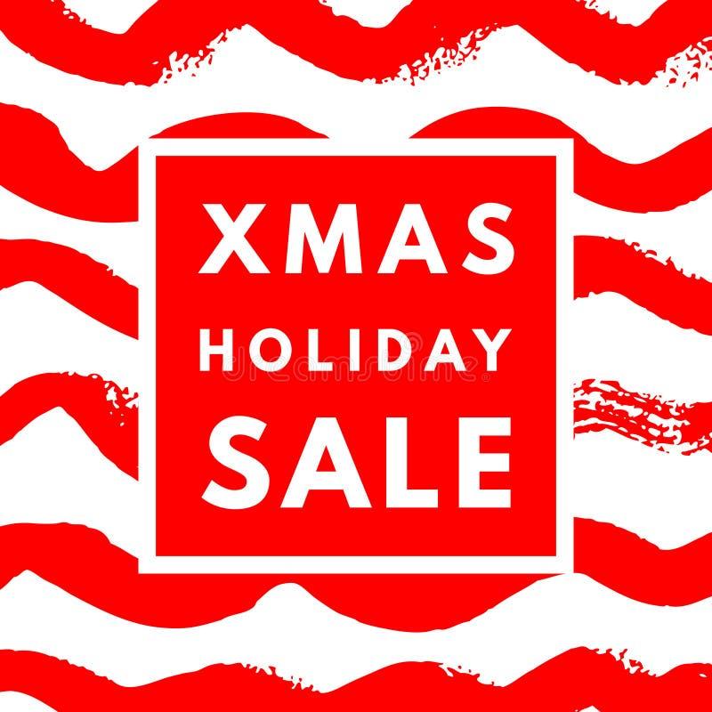 Affisch för julferieförsäljning royaltyfri illustrationer