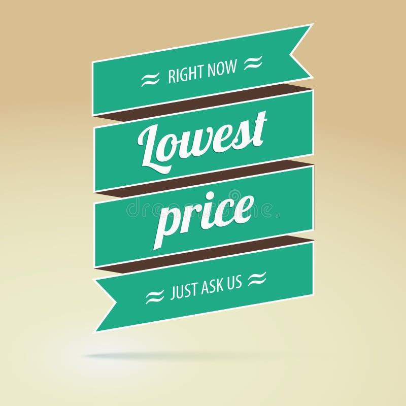 Affisch för lägst pris, vektorillustration stock illustrationer