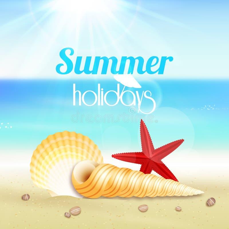 Affisch för lopp för semester för sommarferie vektor illustrationer