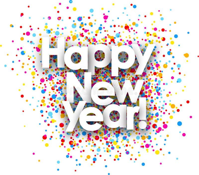 Affisch för lyckligt nytt år royaltyfri illustrationer