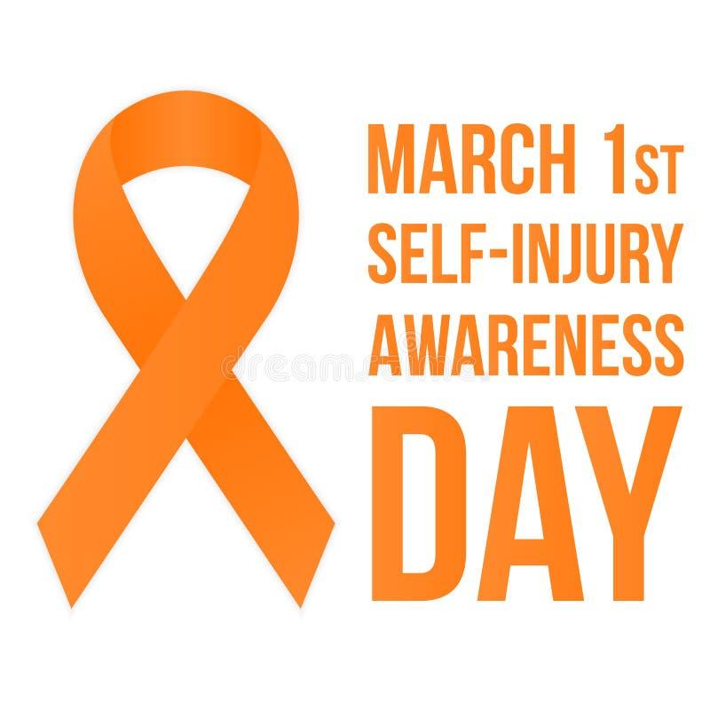 affisch för Själv-skada medvetenhetdag stock illustrationer