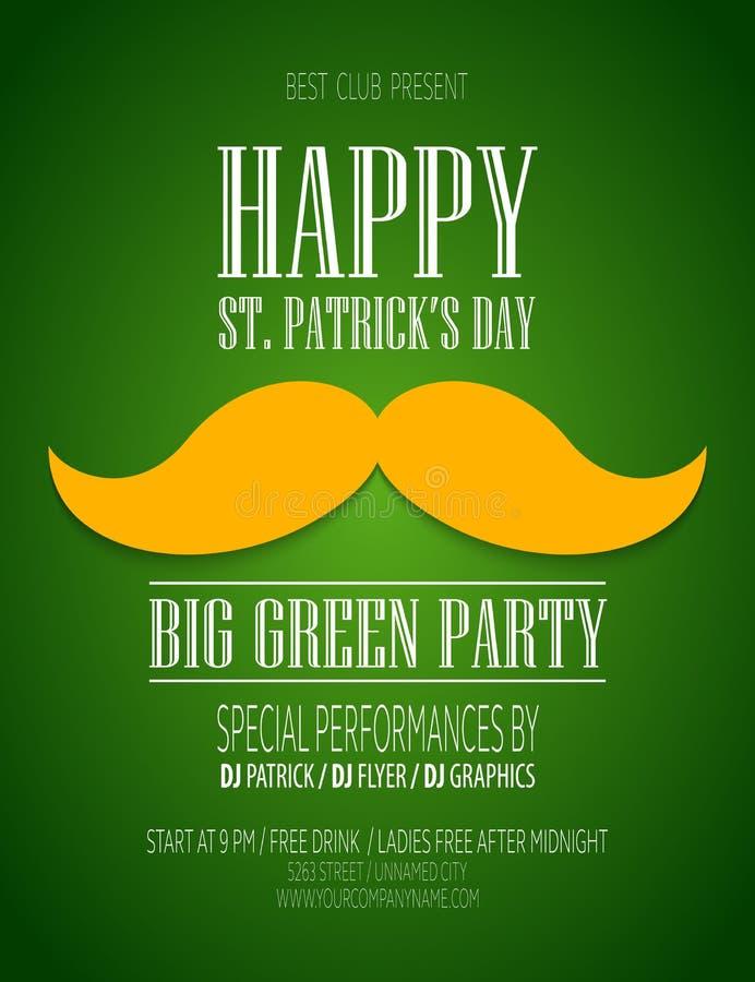 Affisch för St Patrick Day vektor illustrationer