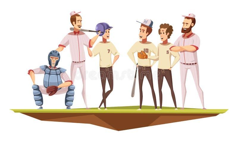 Affisch för tecknad film för tonåringsport Retro stock illustrationer