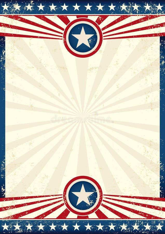 Affisch för USA grungestjärna royaltyfria foton